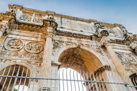 imposing: the imposing walls of a Roman triumphal arch