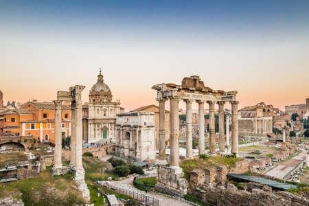Ruines du Forum Romanum Banque d'images