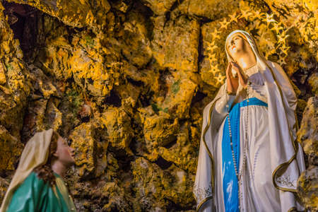 devotions: Representation of the apparitions of the Blessed Virgin Mary in the grotto at Lourdes