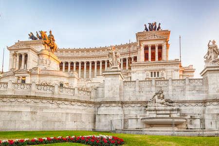 imposing: white imposing monument in rome Stock Photo