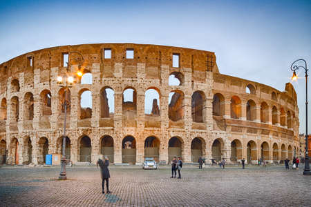 roman amphitheater: walls and arches of Roman amphitheater, the Coliseum in Rome, Italy