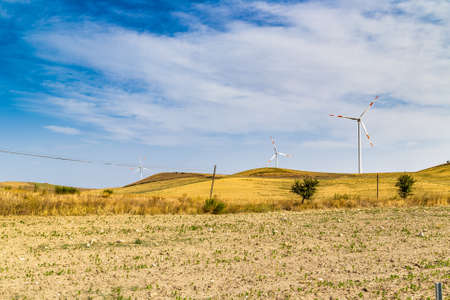 windfarms: wind turbines in the Italian countryside