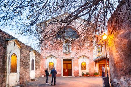 palatine: Saint Sebastian Church on Palatine in Rome Stock Photo