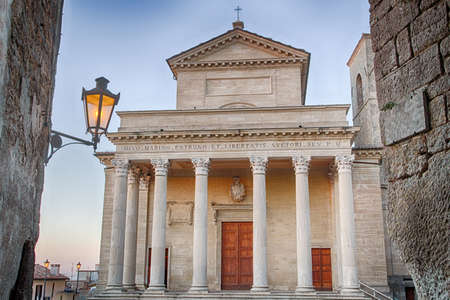 corinthian: Catholic church in neoclassical style with Corinthian capitals Stock Photo