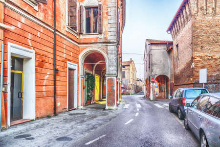 romagna: Ancient palacesin the streets of a medieval village in the countryside of Romagna, Italy Editorial