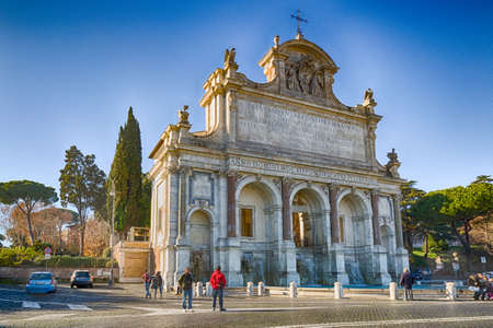 paulus: The Big Fountain in Rome, Italy Editorial