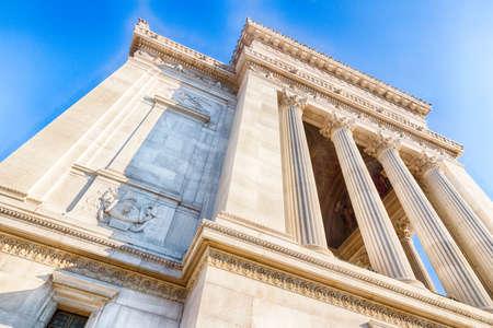imposing: white imposing monument in Rome, Italy Stock Photo