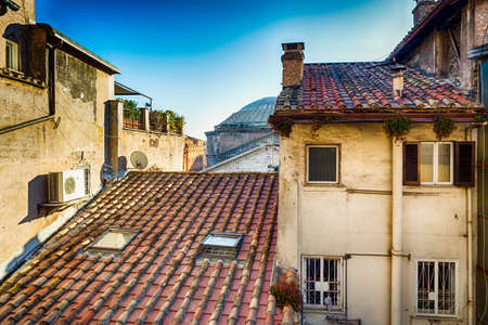 rooftops: the rooftops of Rome, Italy Stock Photo