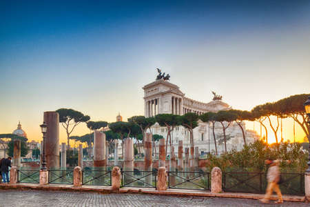 imposing: white imposing monument in Rome, Italy Stock Photo