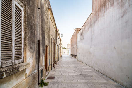 xvi: streets and walls of small fortified citadel of XVI century in Italy