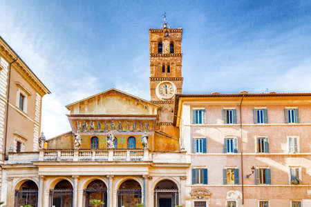 mary and jesus: Basilica of Saint Mary in Rome, Italy, the oldest Church of Our Lady in the world