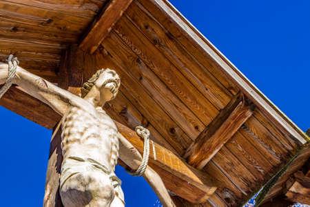calvary: Mount Calvary, robber on the cross Stock Photo