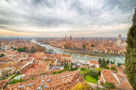 romeo: View of Verona, Italian city of the love  of Romeo and Juliet
