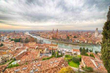 romeo juliet: View of Verona, Italian city of the love  of Romeo and Juliet