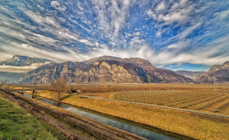 orchards: mountain orchards in Italy