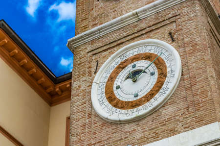 rimini: Ancient astronomical clock in Rimini, Italy