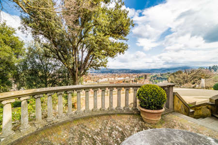 spectacular: spectacular view over the roofs of Florence from the park Stock Photo