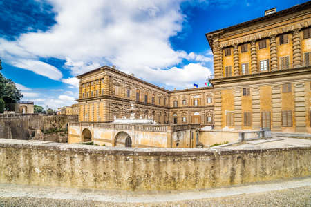 sixteenth: the sixteenth century walls of Pitti Palace in Florence, in Italy,  residence of the grand-dukes of Tuscany and later of the King of Italy