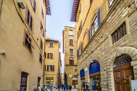historic buildings: streets through historic buildings in Florence, Italy