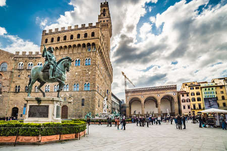 florence italy: Lordship square in Florence, Italy