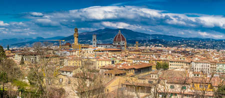 italian landscape: Breathtaking views of the historical buildings and churches of Florence, Tuscany
