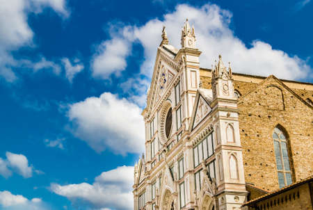 santa cross: Basilica of Santa Croce, meaning Holy Cross, in Firenze, Italy