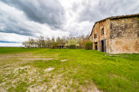 romagna: ancient country ruined house in the countryside of Romagna