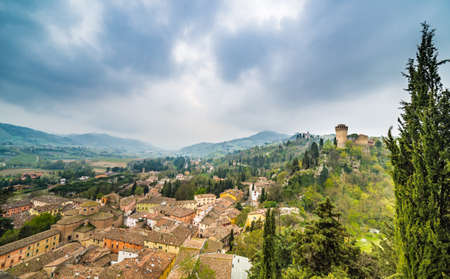 romagna: panorama of medieval village in the hills of Emilia Romagna in Italy