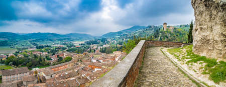 ramparts: views from the ramparts of the fortress of the old town and the shrine on Mount Stock Photo