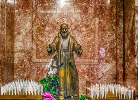 pious: Statue of Saint Pio of Pietrelcina