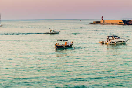 seaside town: the bay of an ancient seaside town on the coast of Salento in Apulia Stock Photo