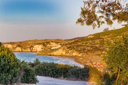 The rocky coast of the Gargano in Puglia