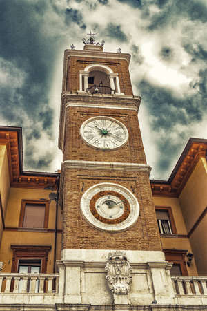 astronomical: Ancient astronomical clock in Rimini, Italy