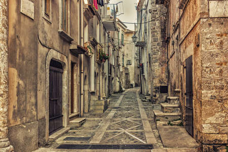 gargano: the romantic very old town of Vico del Gargano, a maze of narrow streets and narrow alleys