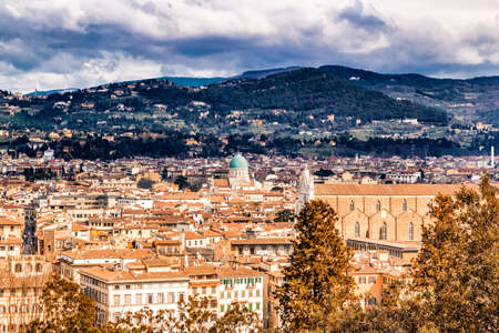 breathtaking: Breathtaking views of the palaces and churches of Florence, Tuscany