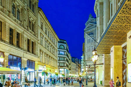 streets of Budapest in Hungary Stock Photo