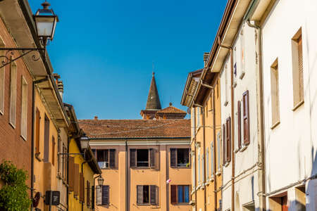 typical: typical houses of an Italian village