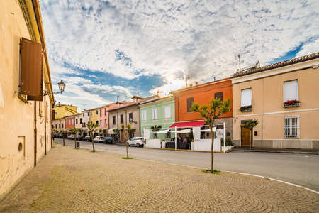 romagna: a small hilltop village streets in Emilia Romagna in Italy Stock Photo