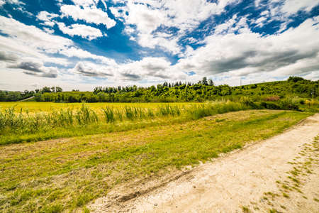 carriageway: country road under the sky of Romagna in Italy