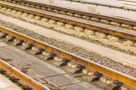 sleepers: railroad track with sleepers