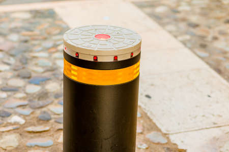 bollards: bollard with reflector and LEDs