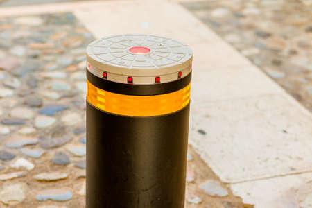 bollard: bollard with reflector and LEDs
