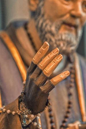 The blessing hand of Saint Pio of Pietrelcina