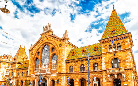 central market: Central Market Hall in Budapest, Hungary Editorial
