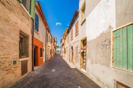 hamlet: the streets of the old hamlet of fishermen in Rimini Stock Photo