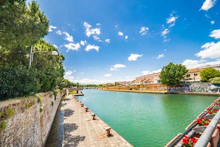 rimini: Tiberius bridge and canal port in Rimini