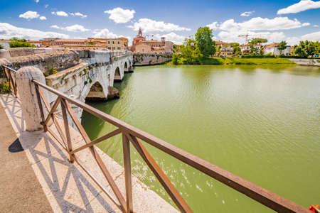 rimini: Tiberius bridge in Rimini, one of Oldest Roman Bridges in Italy