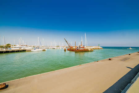 seaports: the port channel that separates the Emilia Romagna from Marche in Italy