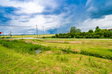 romagna: bucolic landscape of the countryside of Romagna in Italy Stock Photo