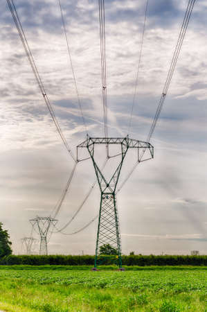 torres de alta tension: pylons for the distribution of electricity in high voltage
